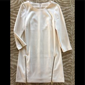 J.CREW Ivory Career Dress Zippers Thicker Material